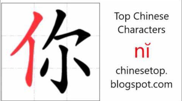 Китайский иероглиф 你 (nĭ, ты)
