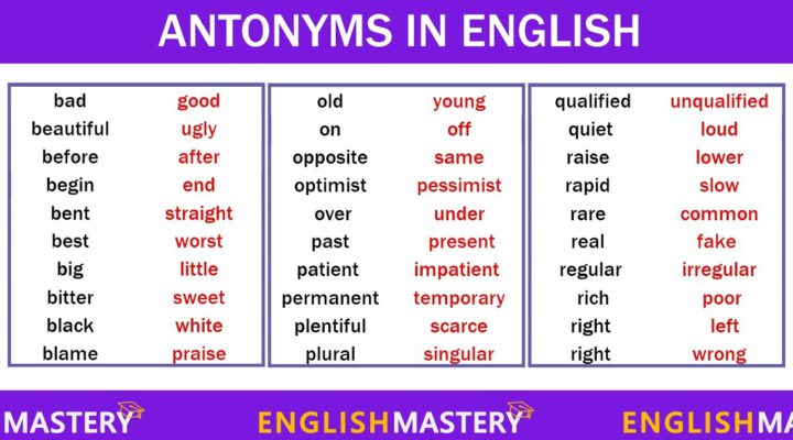 Learn 200+ Common Antonyms Words in English to Expand your Vocabulary